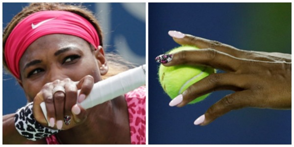 Serena Williams Finger Nails Collage Getty AP