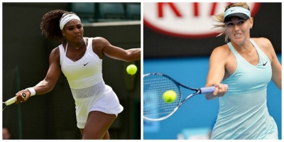 Legendary professional tennis player Serena Williams (left) and professional tennis player Maria Sharapova