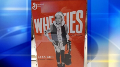 Leah Still gets her very own Wheaties Box for demonstrating bravery in the face of cancer.