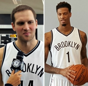 Brooklyn Nets trade Bojan Bogdanovic (left) and Chris McCullough to Washington Wizards