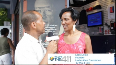 Retired American tennis player, Leslie Allen, talking with What's The 411 reporter Andrew Rosario