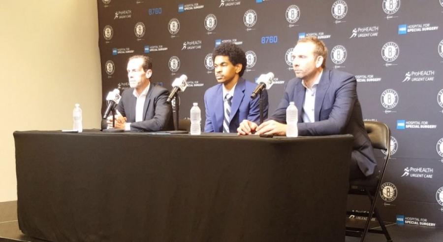 Jarrett Allen Brooklyn Nets Draft Pick Meets the Press