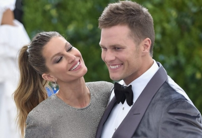 Gisele Bundchen and husband Tom Brady at the Met Gala in New York City, May 1, 2017.