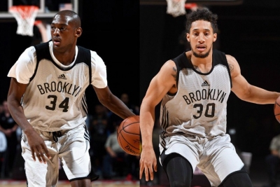Photo: Milton Doyle and Jeremy Senglin signed by the Brooklyn Nets