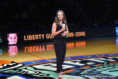 Becky Hammon inducted into the New York Liberty's Ring of Honor