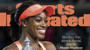 Sloane Stephens on the cover of Sports Illustrated after winning the Women's Final at the 2017 US OPEN