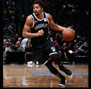 Spencer Dinwiddie, Brooklyn Nets point guard leads Nets to a 118-107 victory over the Utah Jazz on November 17, 2017 at the Barclays Center