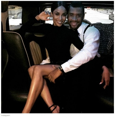 Ciara and husband Russell Wilson, quarterback of the Seattle Seahawks (NFL)