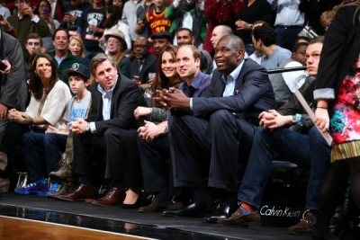 Courtside at Brooklyn Nets Game at Barclays Center