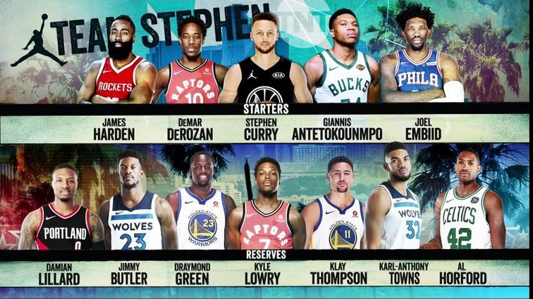 NBA All Star 2018 Team Stephen Curry photo credit NBA