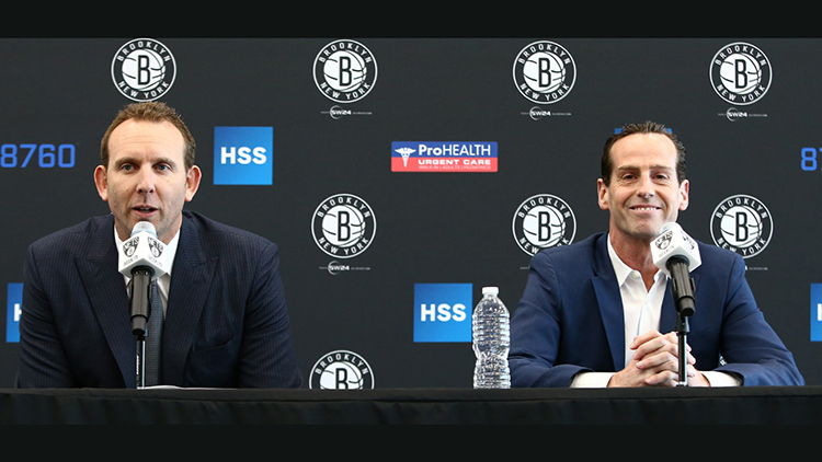 Sean Marks and Kenny Atkinson 750x422