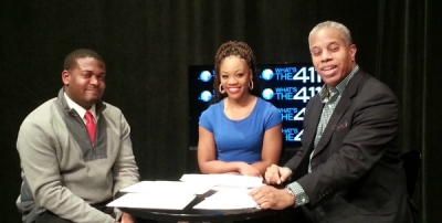 What's the 411Sports panel (L to r) Gregory Alcala, Naomi Grey, and Glenn Gilliam