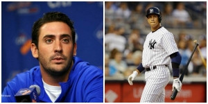 New York Mets pitcher Matt Harvey and New York Yankees, infielder, Alex Rodriguez