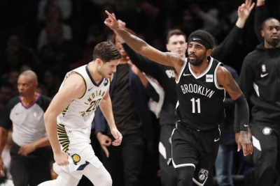 Kyrie Irving leads Nets with 28 points, but Nets allow the Indiana Pacers to get their first win of the season with a score of 118-108