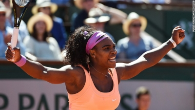 Serena Williams win 2015 French Open and her 20th Grand Slam win.