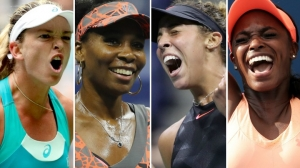 American tennis players Coco Vandeweghe, Venus Williams, Madison Keys, and Sloane Stephens all reach the 2017 US OPEN Semifinals
