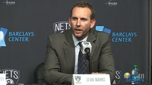 Sean Marks addressing the media