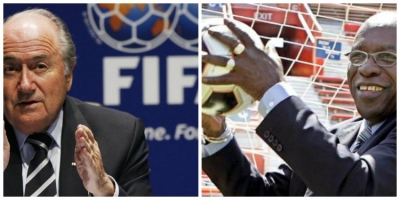 Photo left to right: FIFA President Sepp Blatter and former Trinidadian Jack Warner