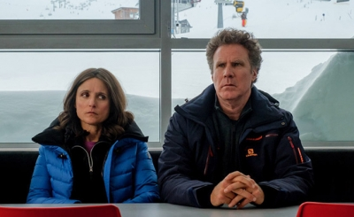 Julia Louis-Dreyfus and Will Ferrell, actors in the movie, Downhill.
