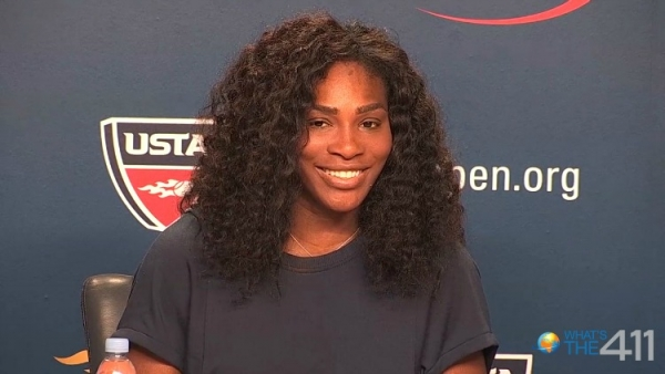 Legendary professional tennis player, Serena Williams talking with media