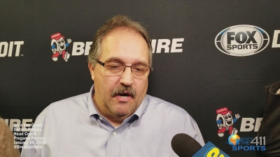 Stan Van Gundy, Detroit Pistons head coach, at Detroit vs. Brooklyn Nets pregame presser at Barclays Center, talking about the Pistons' players and overall game-plan to win.