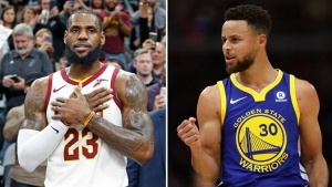 LeBron James (left) and Stephen Curry are the team captains of their respective teams for NBA All-Star 2018
