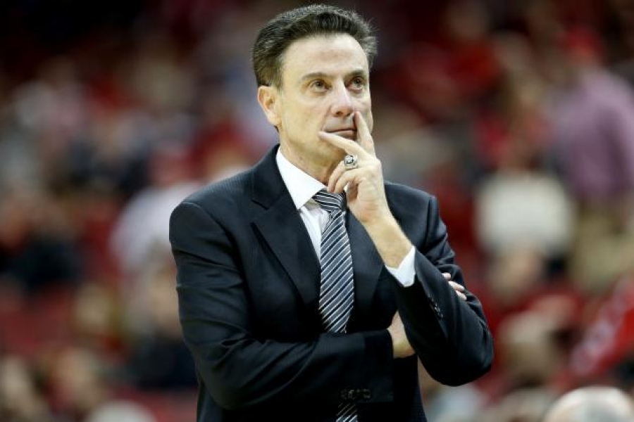 University of Louisville men's basketball coach Rick Pitino in better days