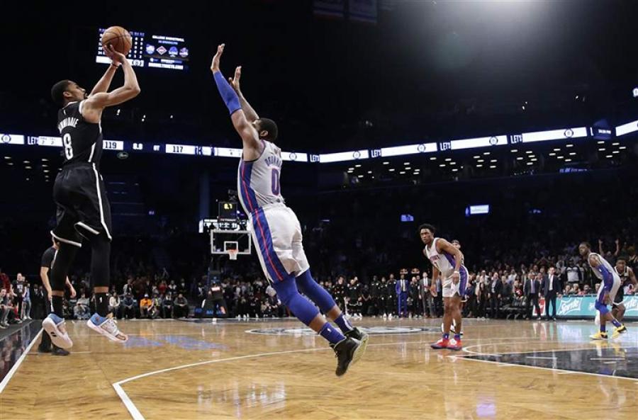 Brooklyn Nets Defeat Detroit Pistons 120-119 in OT