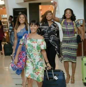 Regina Hall, Jada Pinkett Smith, Queen Latifah, and Tiffany Haddish principal cast members of Girls Trip.