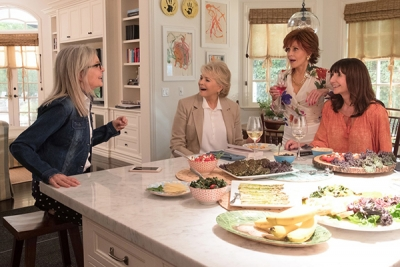 Cast of Book Club (l to r) Diane Keaton, Candice Bergen, Jane Fonda, and Mary Steenburgen.