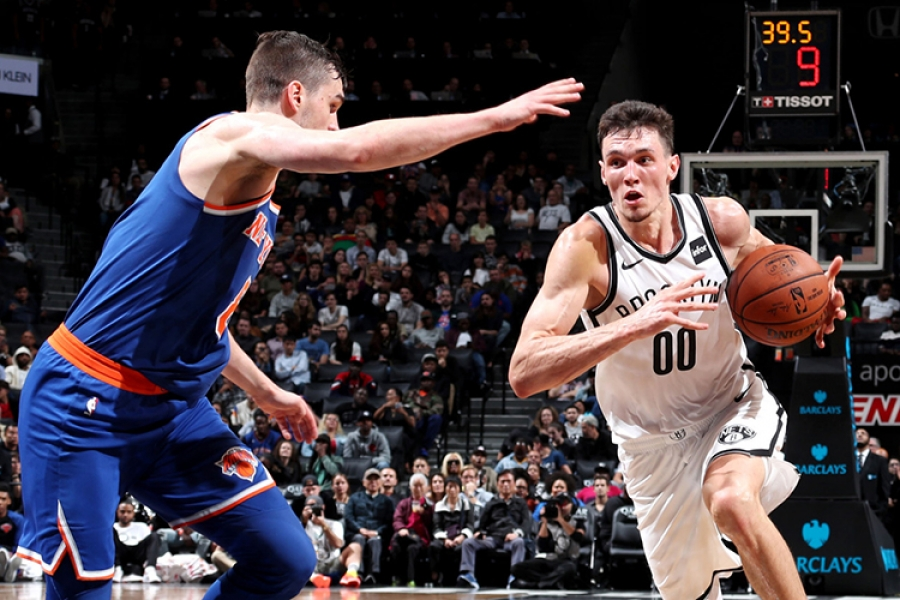Brooklyn Nets rookie Rodion Kurucs showed true grit in the Nets 107-102 loss to the New York Knicks