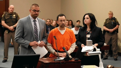 Dr. Nassar in a Michigan state court for his sexual abuse sentencing hearing