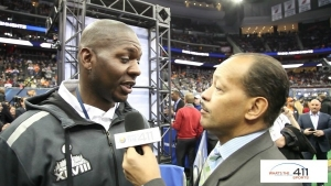 Sam Garnes, assistant defensive back coach, Denver Broncos, at Super Bowl Media Day 2014.