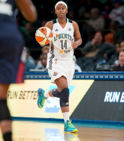 New York Liberty guard Sugar Rodgers