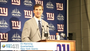 New York Giants quarterback Eli Manning ended the game throwing for 510 yards, the second most in Giants history.