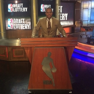 Glenn Gilliam at the 2014 NBA Draft Lottery