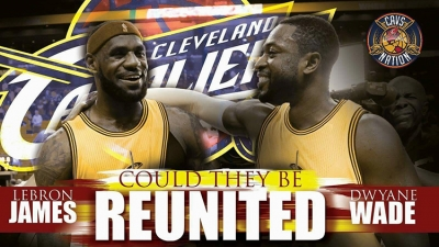 Dwyane Wade teams up with his buddy and former teammate, LeBron James in Clevelandfor the NBA 2017-18 season