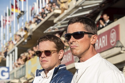 Actors, Matt Damon (left), and Christian Bale, star in the movie, Ford v. Ferrari