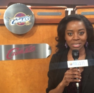 Bianca Peart at 2014 NBA Draft Lottery