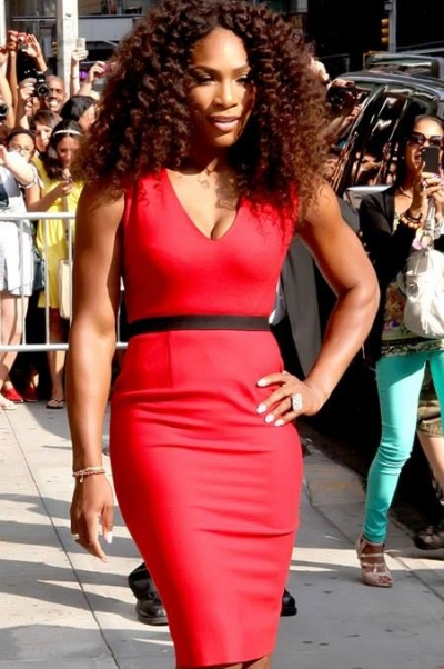 Tennis Legend, Serena Williams, taking a stroll.