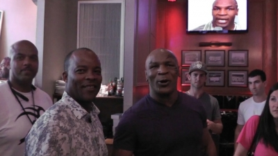 Photo left to right: Author George Willis and former heavyweight boxing champion Mike Tyson